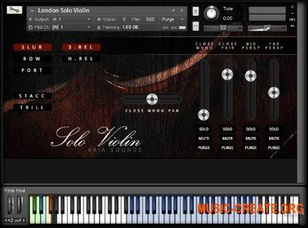 Aria Sounds - LSS Solo Strings - Solo Violin (KONTAKT) - библиотека звуков скрипки