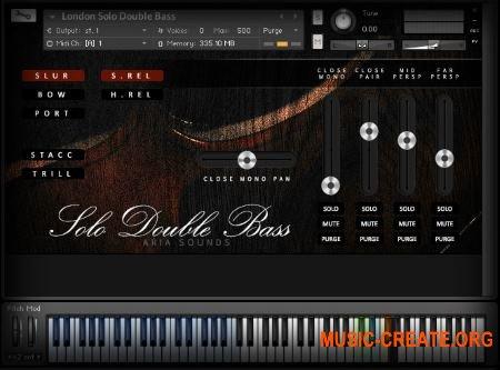 Aria Sounds London - Solo Double Bass (KONTAKT) - библиотека струнных