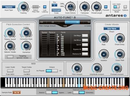 Antares - Auto-Tune v8.1.1 WIN VST (Team AudioUTOPiA) - плагин корректор тональности