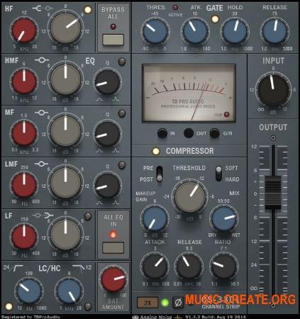 TBProAudio CS-3301 v1.6.0 (Team R2R) - плагин channel strip