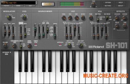 Roland SH-101 PLUG-OUT v1.1.5 (TEAM R2R) - синтезатор