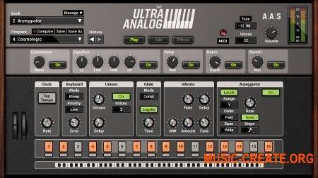 Applied Acoustics Systems Ultra Analog VA-2 v2.2.3 WIN OSX (Team P2P/AiR) - аналоговый синтезатор
