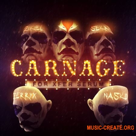 Fox.wav Carnage for Xfer Serum (WAV Serum presets) - сэмплы Dubstep