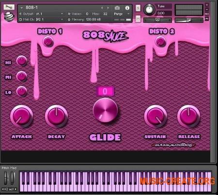 Global Audio Tools 808 Sauce (KONTAKT) - библиотека ударных, Hip Hop, Trap