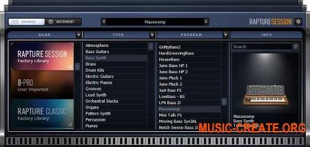 Cakewalk Rapture Session v2.0.5.77 (Team R2R) - виртуальный инструмент