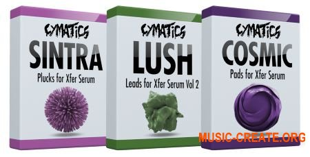 Cymatics Boxes: Sintra Plucks, Lush Leads Vol.2, Cosmic Pads (Serum presets)