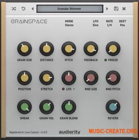Audiority GrainSpace v1.0.3 WiN / OSX (Team R2R) - гранулярный процессор