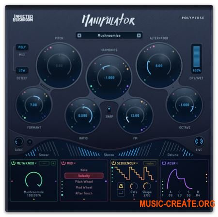 Polyverse Infected Mushroom - Manipulator v0.904 WiN/MAC - вокально-преобразующий процессор