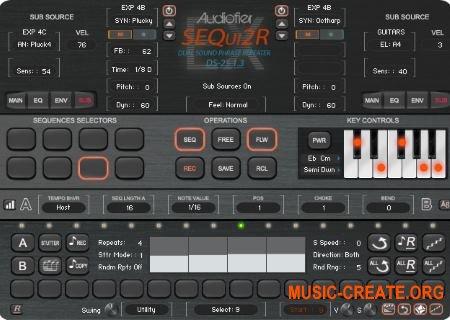 Audiofier SEQui2R EX v1.3 (KONTAKT) - виртуальный инструмент
