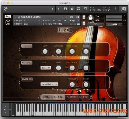 Sonuscore Lyrical Cello Phrases V.1.1 (KONTAKT) - звуки виолончели