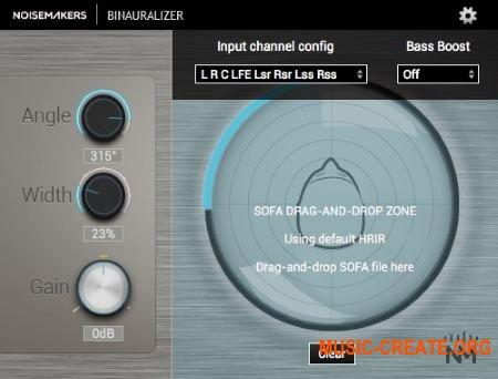 Noise Makers Binauralizer v1.4 (Team R2R) - плагин бинаурального панорамирования