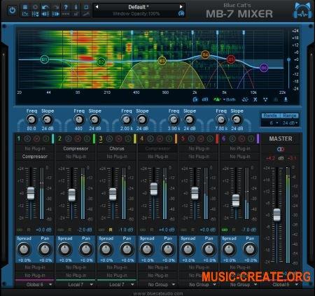 Blue Cat Audio Blue Cats MB-7 Mixer v3.22 WIN / OSX (Team R2R) - плагин многополосной обработки