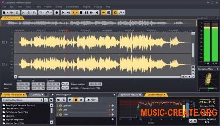 Acon Digital Acoustica v7.0.5 WiN/OSX (Team R2R) - инструмент для редактирования, мастеринга и реставрации