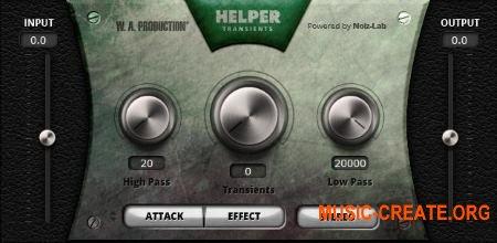 W.A Production Helper Transients Au/Vst/Vst3 Mac/Pc - транзиент шейпер