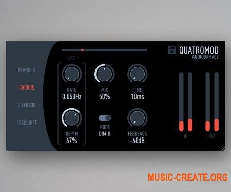 Audio Damage AD040 QuatroMod v1.0.3 WiN OSX RETAiL (SYNTHiC4TE) - плагин эффектов