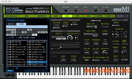 KORG M1 Le v1.1.1 WiN/OSX (Team R2R) - синтезатор