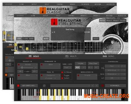 MusicLab RealGuitar v5.0.2.7424 WIN / v5.0.0.7353 OSX (Team R2R) - виртуальная гитара