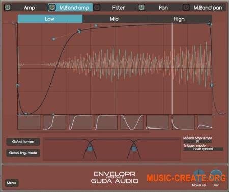 Guda Audio EnvelopR v1.5 WiN OSX (Team R2R) - плагин мультиэффект