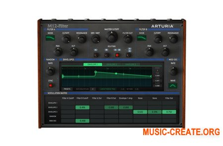 Arturia M12-Filter v1.1.0.389 (Team V.R) - плагин эмуляции многорежимного фильтра Oberheim Matrix-12