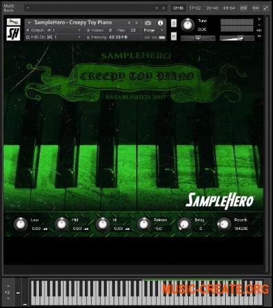 SampleHero Creepy Toy Piano (KONTAKT) - звуки игрушечного пианино