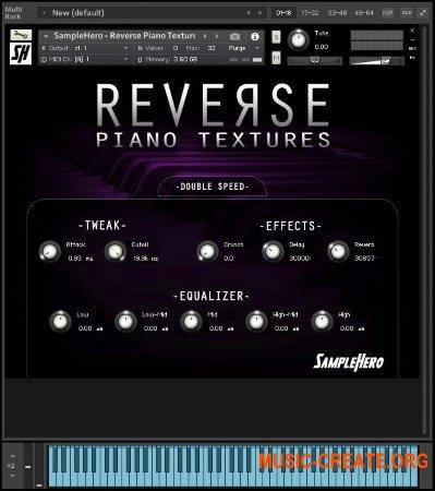 SampleHero Reverse Piano Textures (KONTAKT) - библиотека эффектов пианино