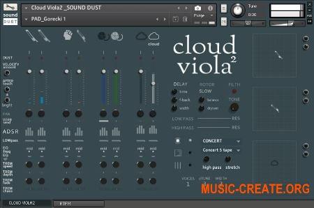 Sound Dust Cloud Viola² (KONTAKT) - библиотека звуков виолы