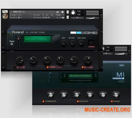 Angel Cano Korg M1 v1.1 (KONTAKT) - библиотека звуков синтезатора Korg M1