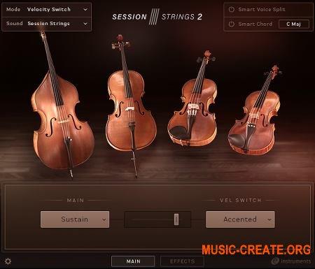 Native Instruments Session Strings 2 v1.0 (KONTAKT) - библиотека звуков струнных
