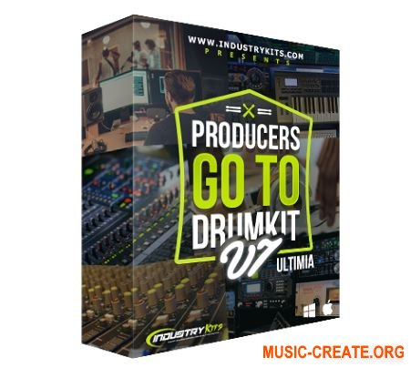 IndustryKits Producers GoTo DrumKit v7 ULTIMIA (WAV MiDi) - драм сэмплы