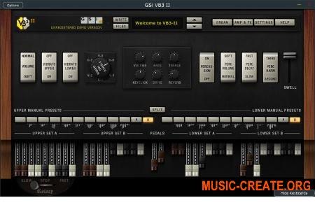 GSi VB3-II v1.1.1 WIN MacOSX (Team R2R) - виртуальный орган Hammond B3