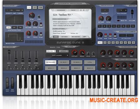 Synapse Audio DUNE 2 v2.6 WIN / OSX (Team R2R) - синтезатор
