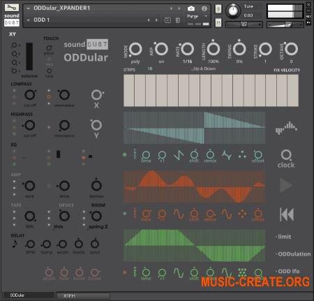 sound DUST ODDULAR (KONTAKT) - виртуальный инструмент