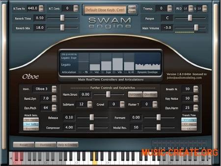 Audio Modelling SWAM Engine SWAM Double Reeds v2.8.1 CE (Team V.R) - виртуальный гобой, английский рожок, фагот и контрабас