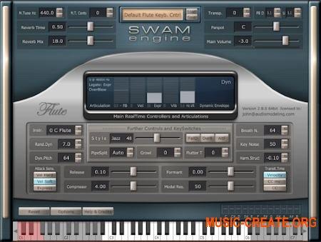 Audio Modelling SWAM Engine SWAM Flutes v2.8.1 CE (Team V.R) - виртуальная флейты, флейты Альто, басовой флейты и пикколо