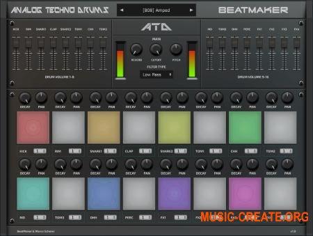 BeatMaker Analog Techno Drums v1.0.0 WiN OSX RETAiL (SYNTHiC4TE) - виртуальная ударная установка