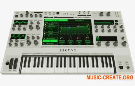 Initial Audio Sektor v1.2.2  (Team R2R) - полифонический волновой синтезатор