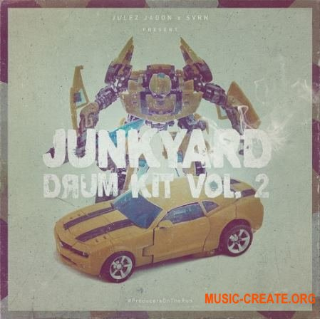 Julez Jadon Junkyard Drum Kit Vol 2 (WAV) - сэмплы ударных