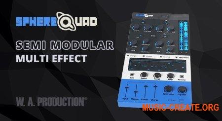 W.A. Production SphereQuad v1.0 VST VST3 AU AAX MAC/WiN - стерео флэнджер, эффект фазера и хоруса