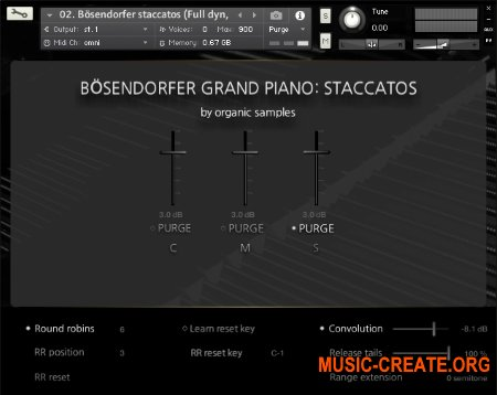 Organic Samples Boesendorfer Grand Piano Staccatos (KONTAKT) - библиотека стаккато