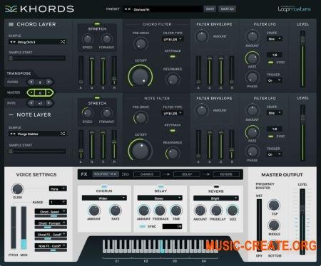 Loopmasters Khords v1.0.1 WIN OSX (Team R2R) - виртуальный аккордовый инструмент