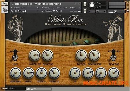 Rhythmic Robot Audio Music Box