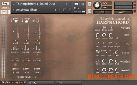 Sound Dust Tiny Binaural Harpsichord³ (KONTAKT) - библиотека звуков клавесина
