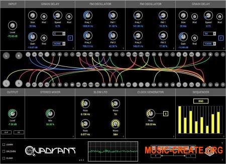 GlitchMachines Quadrant VST AU v1.1 MAC/WiN - модульный генератор звука, процессор эффектов