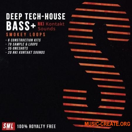 Smokey Loops Deep Tech House Bass (WAV KONTAKT) - сэмплы Deep House, Tech House