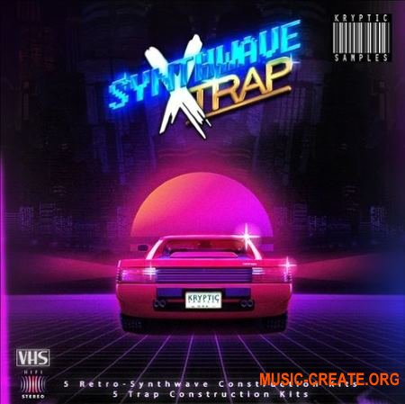 Kryptic Samples Synthwave X Trap (WAV MIDI) - сэмплы Synthwave Retro, Trap