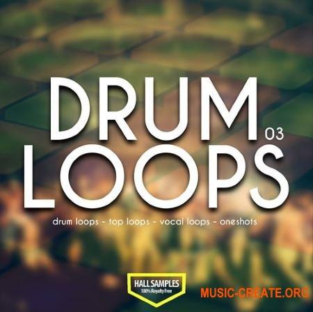 Hall Samples Drum Loops Vol 3 (WAV) - сэмплы ударных