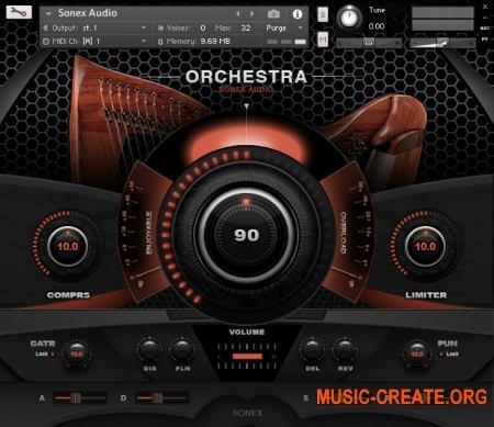 Sonex Audio Harp Solo (KONTAKT) - библиотека звуков арфы