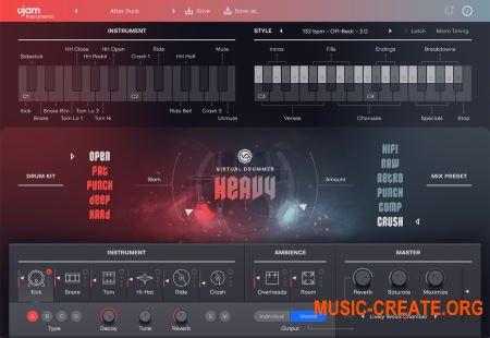 uJAM Virtual Drummer HEAVY v1.0.0.932 CE (Team V.R) - виртуальный инструмент ударных