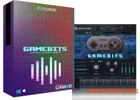 StudioLinked Infiniti Expansion Gamebits Library WIN (DECiBEL) - библиотека 8-Bit  звуков