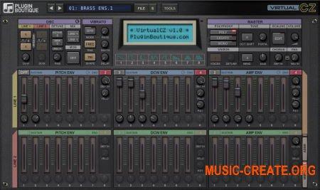 Plugin Boutique VirtualCZ v1.1.1 WiN OSX (Team R2R) - виртуальный синтезатор